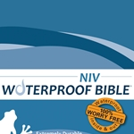 NIV Waterproof Bible Blue Wave