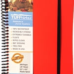 TUFFNotes waterproof spiral notebook - Orange Ruled