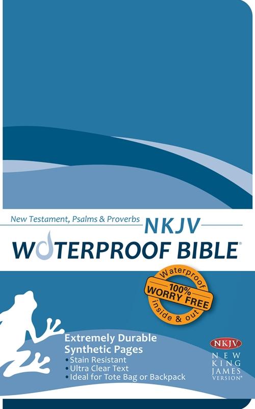 NKJV Waterproof Bible New Test  Psalms & Prov  Blue Wave