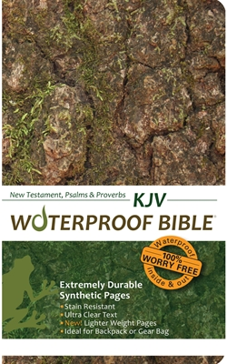 KJV Waterproof Bible New Test. Psalms & Prov. Camouflage