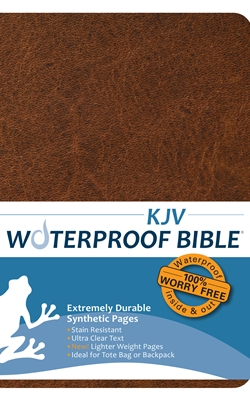 KJV Waterproof Bible Brown