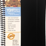 TUFFNotes waterproof spiral notebook - Black Ruled