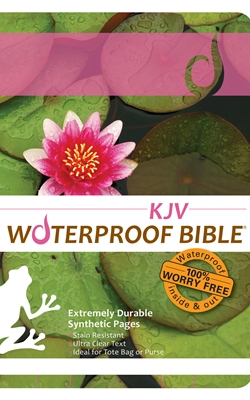 KJV Waterproof Bible Lily Pad
