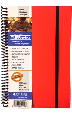 TUFFNotes waterproof spiral notebook - Orange Blank