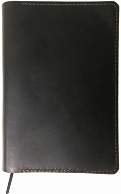 One Star Horween CXL Black Leather Waterproof Bible Cover